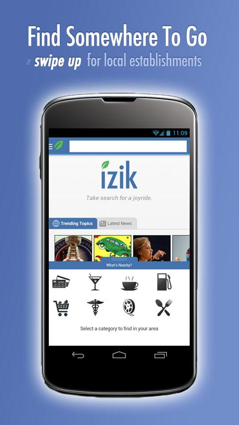 izik search - screenshot