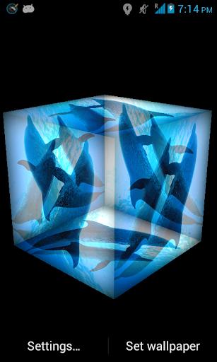 3D Dolphin Live Wallpaper