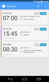 AlarmPad - Alarm Clock Free Screenshot 1