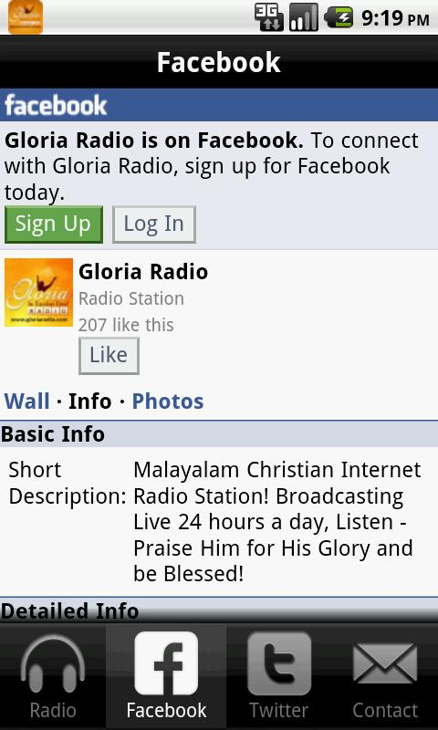 Gloria Radio- screenshot