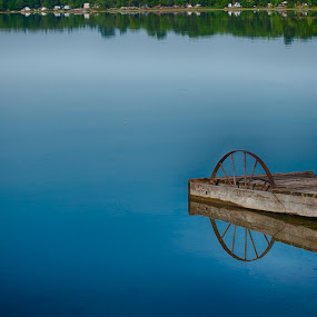 The Dock by Lisa Wessels - Landscapes Waterscapes ( clear, water, reflection, crystal beach, blue, dock )