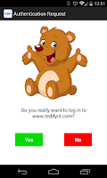 Screenshot of Teddy ID Password-Free Login