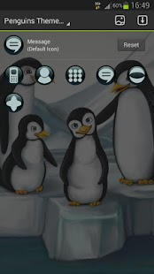 GO Launcher EX Theme penguins - screenshot thumbnail
