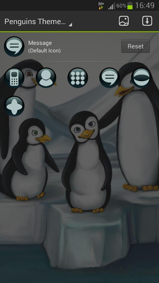 GO Launcher EX Theme penguins - screenshot