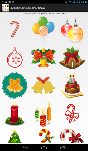 Christmas Stickers Chat Social