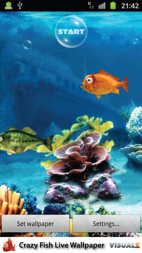 Crazy Fish Live Wallpaper - screenshot