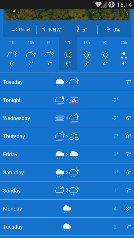 KMI - IRM: .be Weather- screenshot