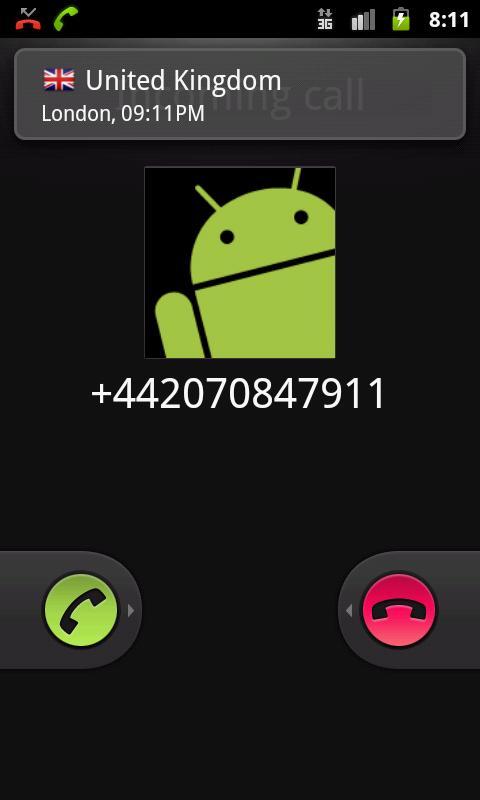 Caller Info- screenshot