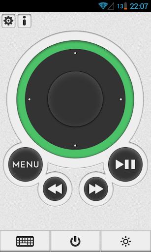 遙控器的Apple TV