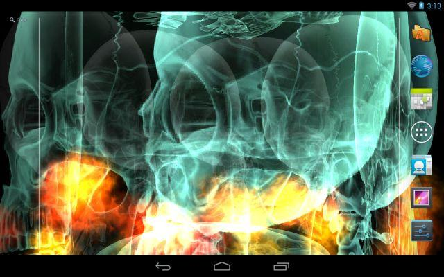 Skull Fire Live Wallpaper - screenshot