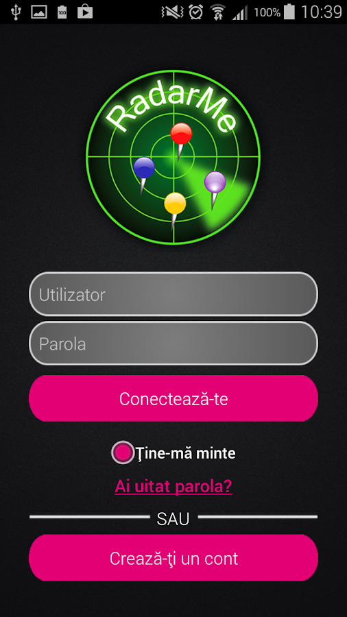 RadarMe Ro - screenshot