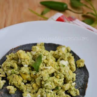 Eggs with Coriander and Serrano Chili.