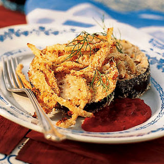 Oven-Crusted Eggplant and Fennel Parmesan