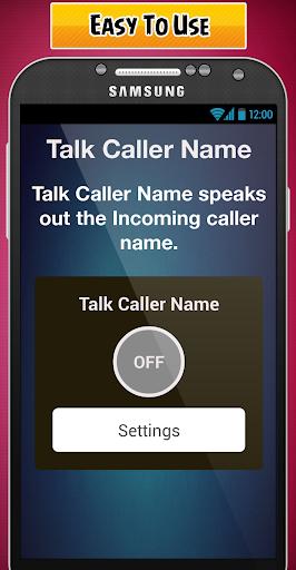 English Caller Name Talker