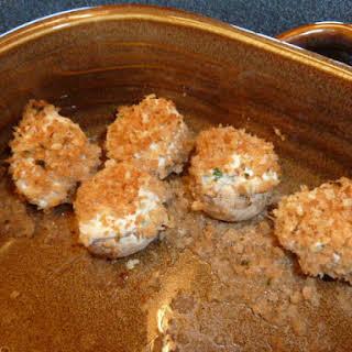 Tofu Stuffed Mushrooms.