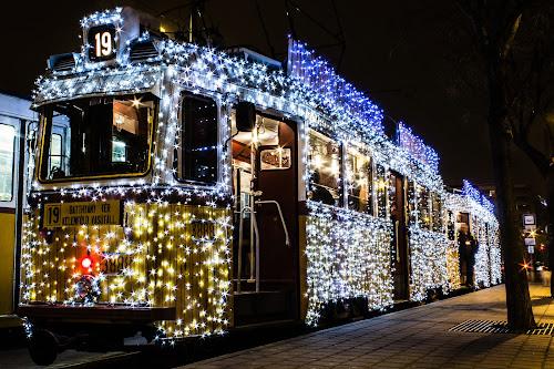 Light Tram by István Decsi - Transportation Other ( urban, hungary, budapest, lifestyle, christmas, tram, light_tram, city,  )