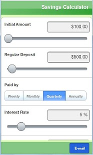Savings calculator Lite - screenshot thumbnail