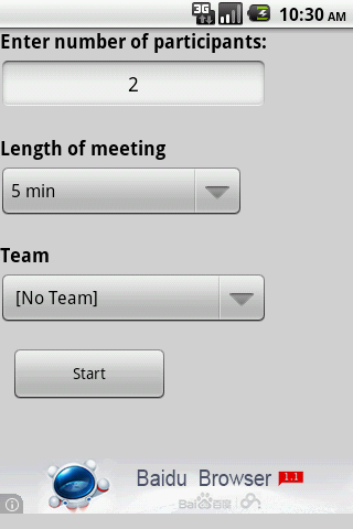 NR Standup Timer - screenshot