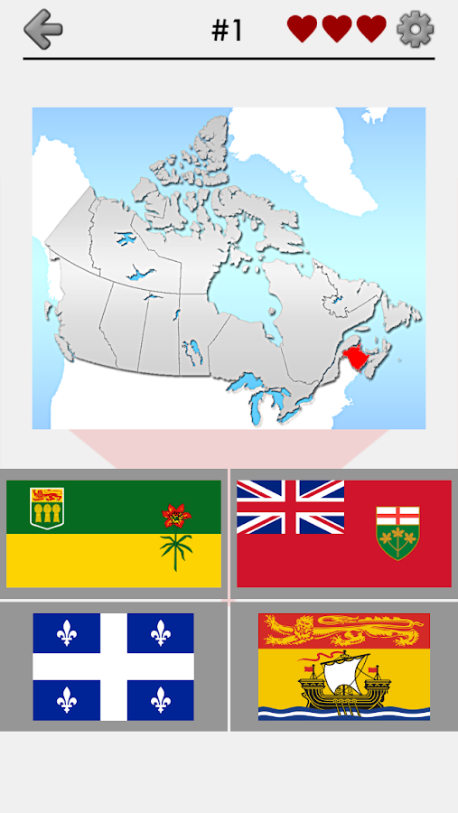 Canada Provinces Territories Canadian Quiz Android Apps On - Canada map quiz