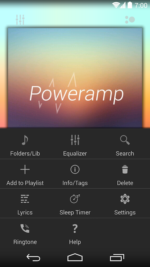 Poweramp skin KitKat/JB/ICS - screenshot