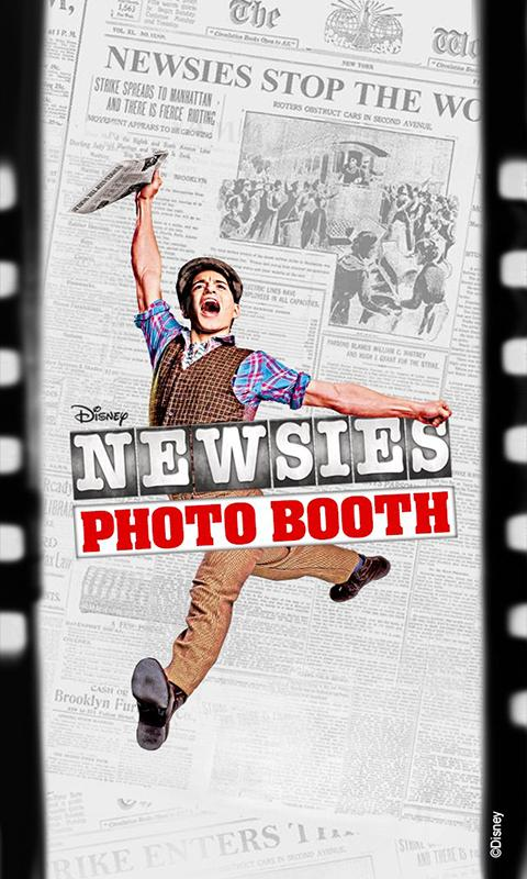 Newsies Photo Booth- screenshot