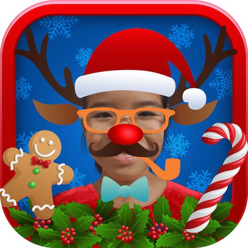 圣诞新年相机 - DIY照片 帽子相机及贴纸 攝影 App LOGO-硬是要APP