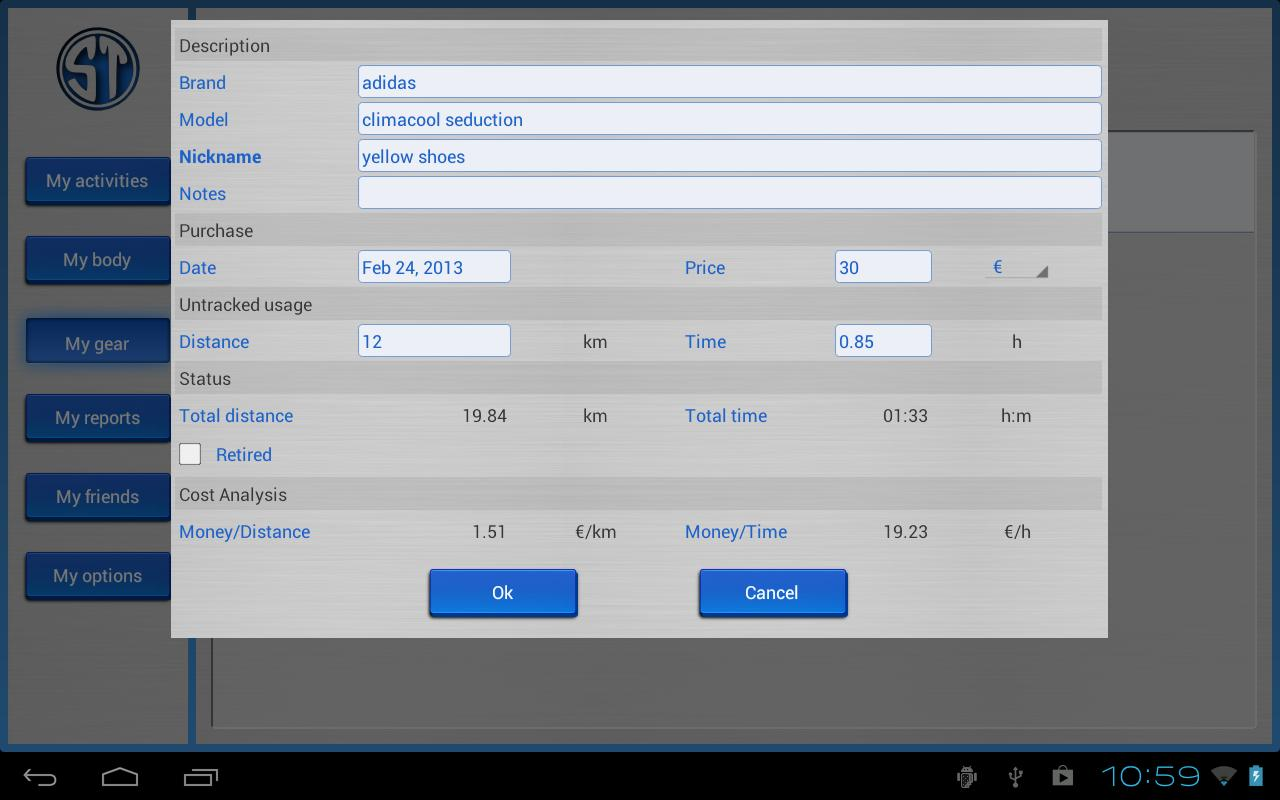 Sportablet- screenshot