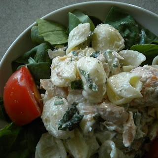Creamy Minted Salmon Pasta Salad.