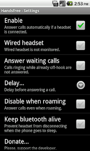 Handsfree- screenshot thumbnail