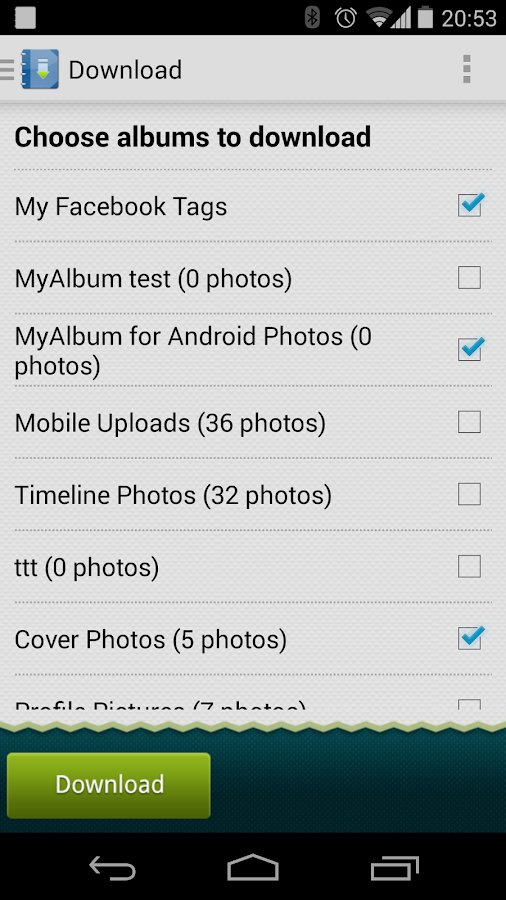 MyAlbum For Facebook - screenshot