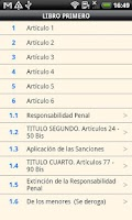 Screenshot of Mexican Penal Code