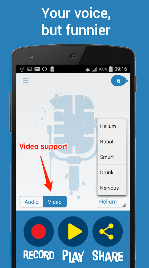 Helium Voice Changer + Video - screenshot