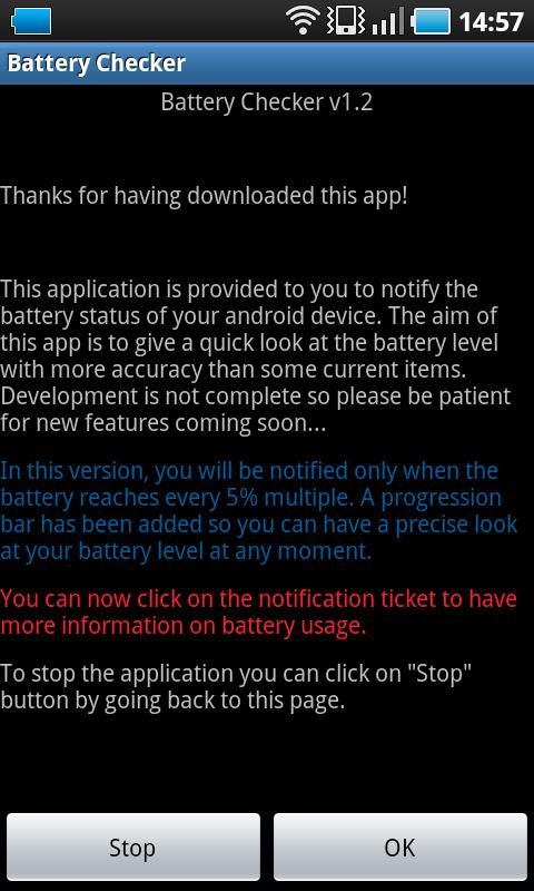 Battery Checker - screenshot