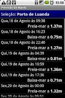 Screenshot of Previsão de Marés