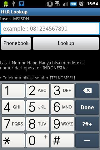 Lacak Nomor Telepon HLR Lookup- screenshot