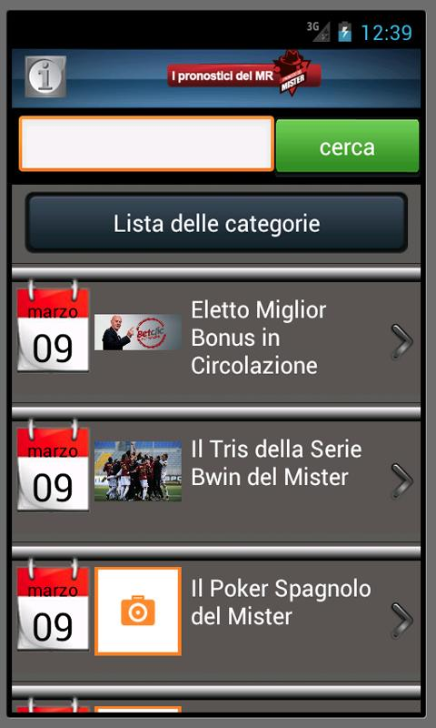 I pronostici del mister - FULL - screenshot