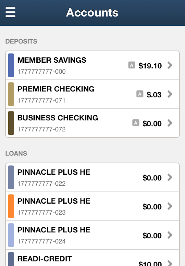 Pinnacle Federal Credit Union- screenshot