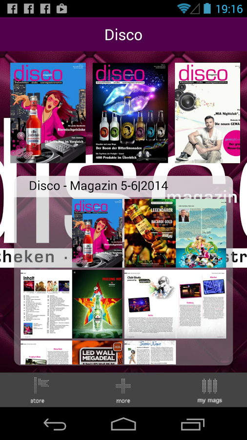 Disco Magazin- screenshot