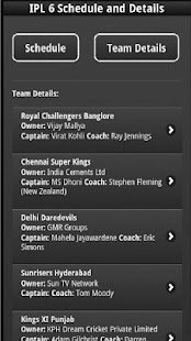 IPL6 Schedule - screenshot thumbnail