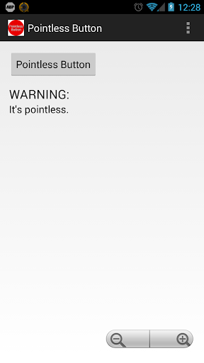 Pointless Button App