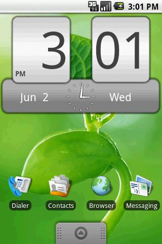 FlipClock Steel 4x2 - screenshot