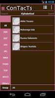 Screenshot of Phone Book ConTacTs (Pink)
