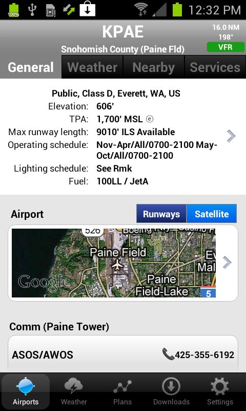 AOPA FlyQ Pocket - screenshot