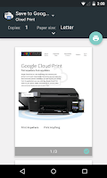 Screenshot of Cloud Print