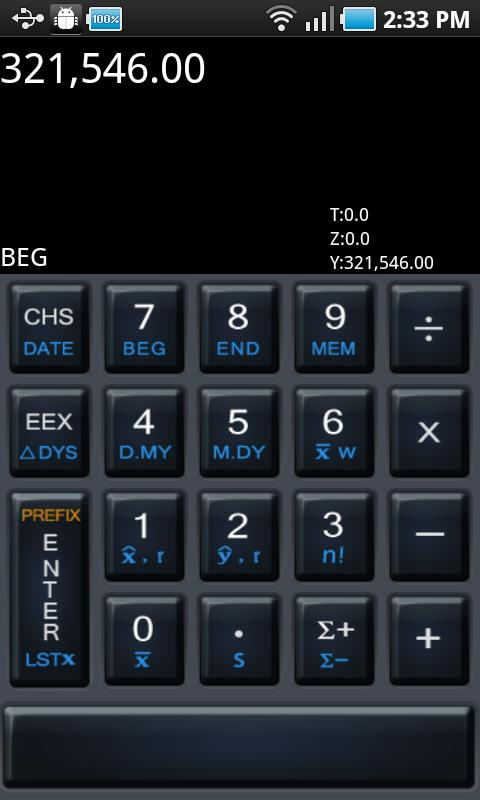 HD 12c Financial Calculator - screenshot
