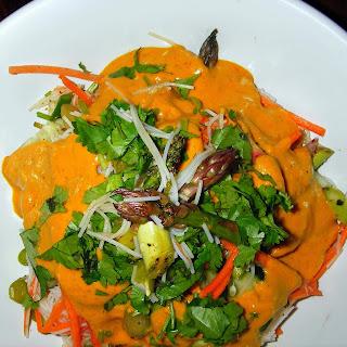 Asparagus Laksa Salad.