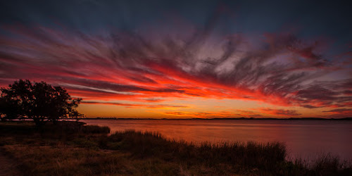 Sunset over an Estuary by Lourens Lee Wildlife Photography - Landscapes Sunsets & Sunrises ( sun rise, seascapes, sunsets, landscape,  )