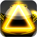 3D glow yellow magic GO theme logo