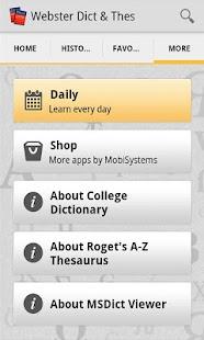 【免費書籍App】Websters Dictionary+Thesaurus-APP點子