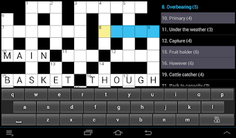 Screenshot of CROSSWORD PUZZLE (UK)